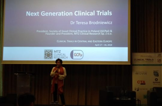 Dr Teresa Brodniewicz (MTZ Clinical Research) bierze udział w 3-cim corocznym Clinical Trials in Central & Eastern Europe Forum